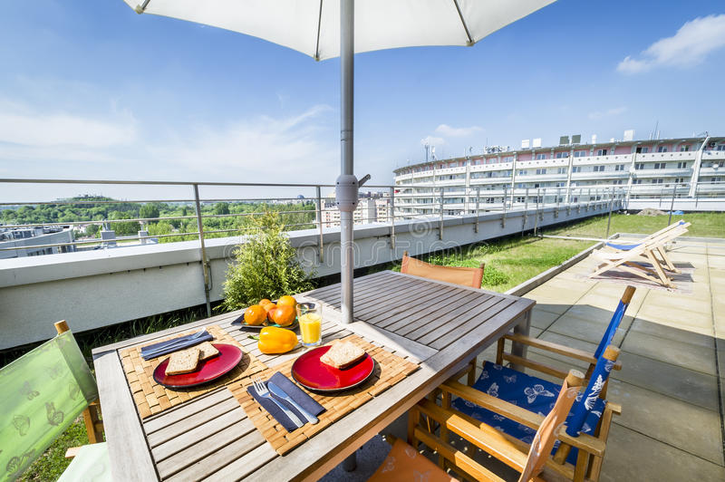 Download Roof top terrace exterior stock image. Image of building - 24717299