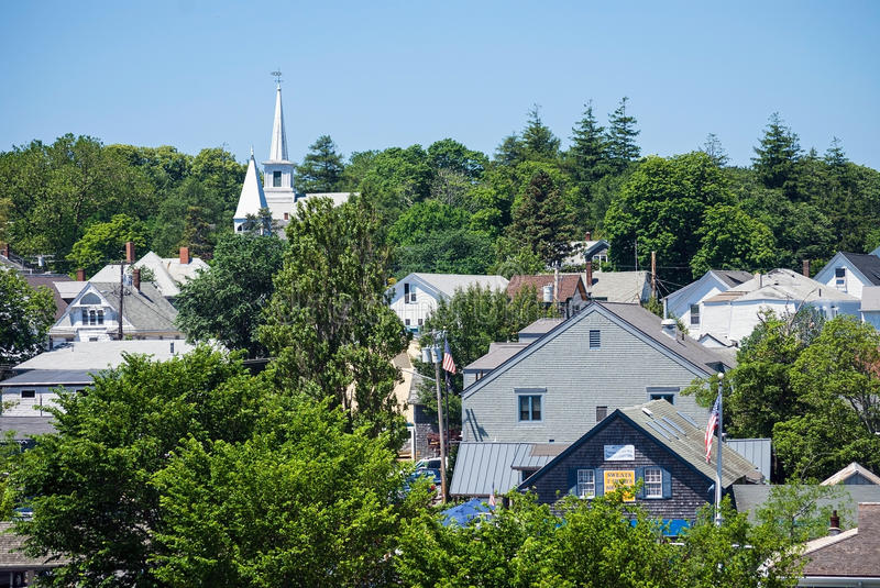 Roof Tops Martha's Vineyard royalty free stock images