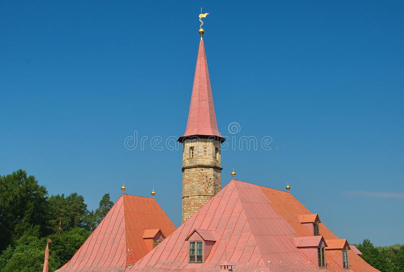 The roof of the tower royalty free stock photos