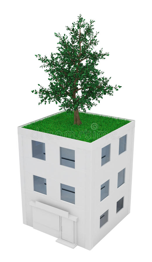 Download Roof Tree stock illustration. Image of over, spread, house - 15081395