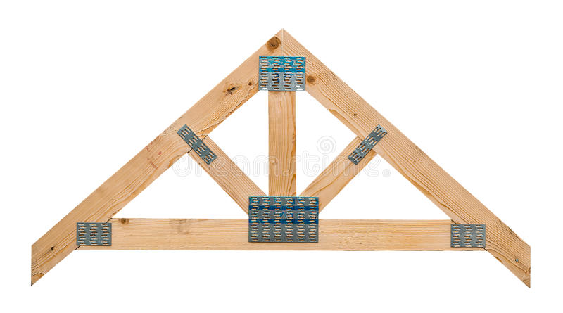 Roof truss isolated royalty free stock photography