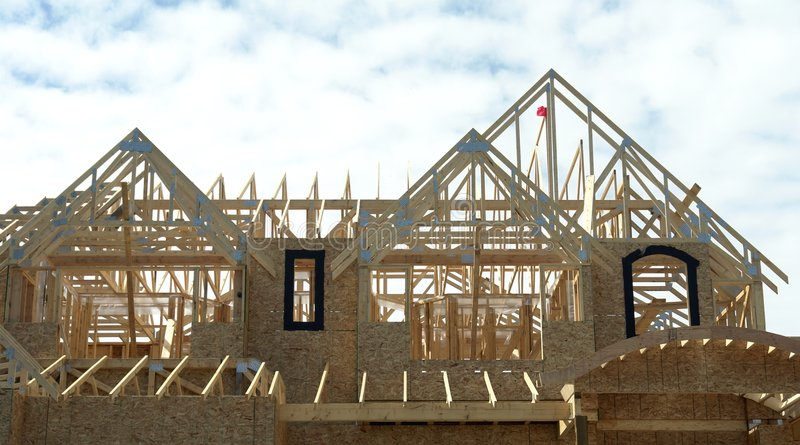 Roof Trusses royalty free stock photo
