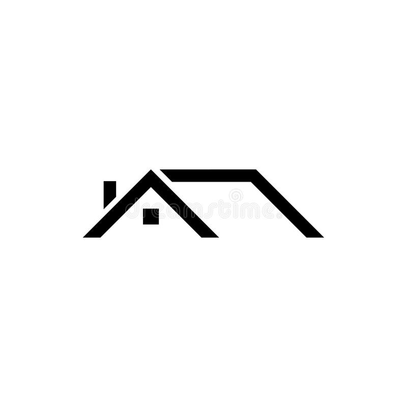 Roof vector icon royalty free illustration