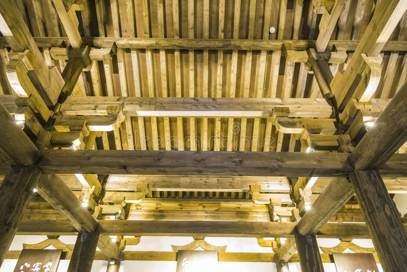 The roof of the wood royalty free stock images