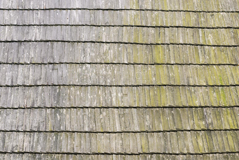 Roof wooden shingle texture. Wooden roof shingle texture from an old house stock photography
