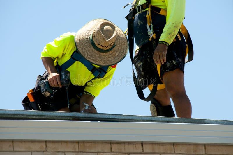 Roof Work Renovation stock image