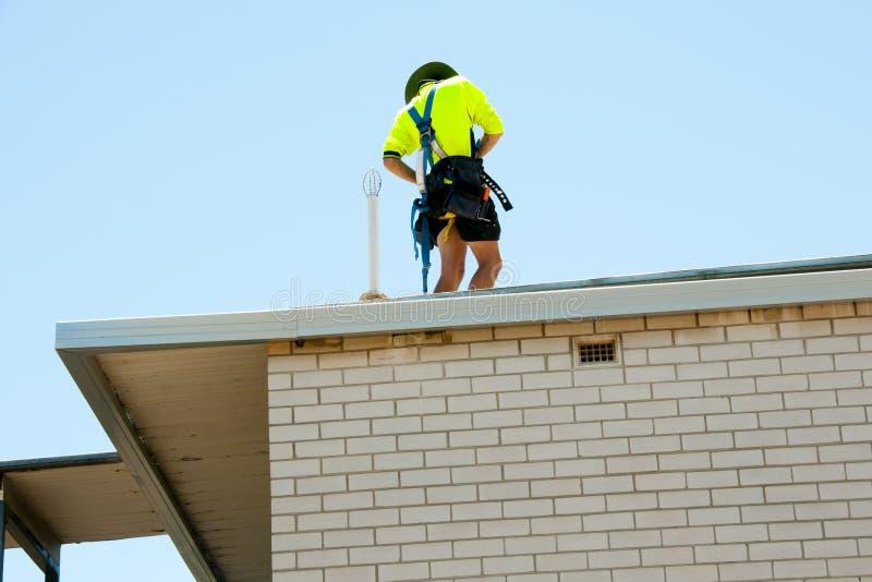 Roof Work Renovation stock photos