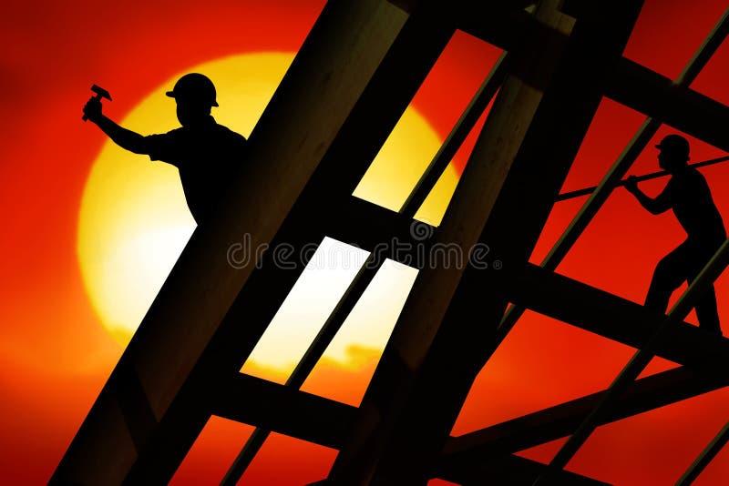 Roof worker vector illustration