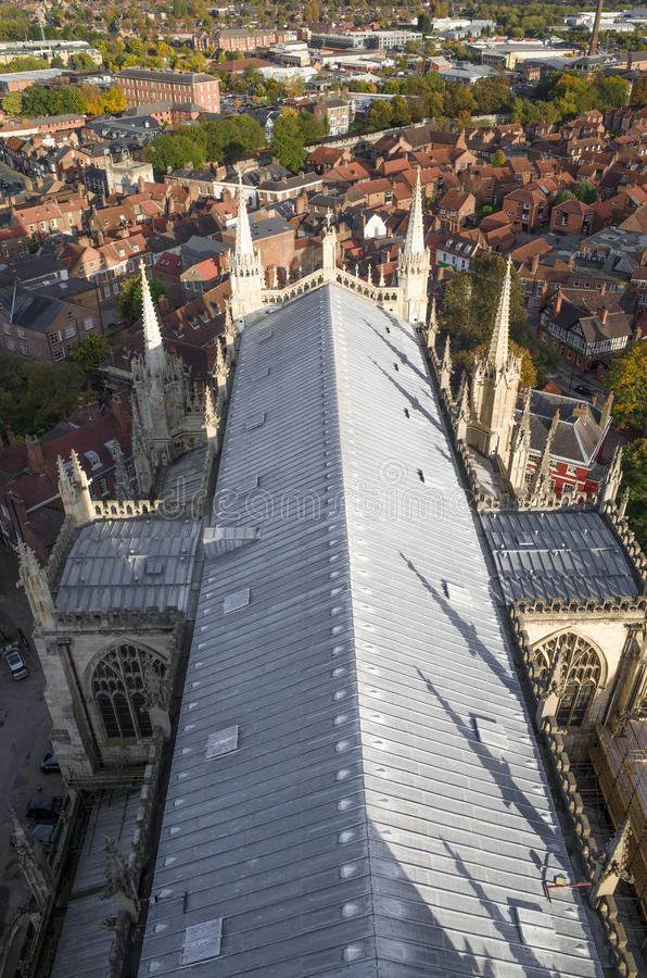 Roof at York minster (cathedral) stock photos