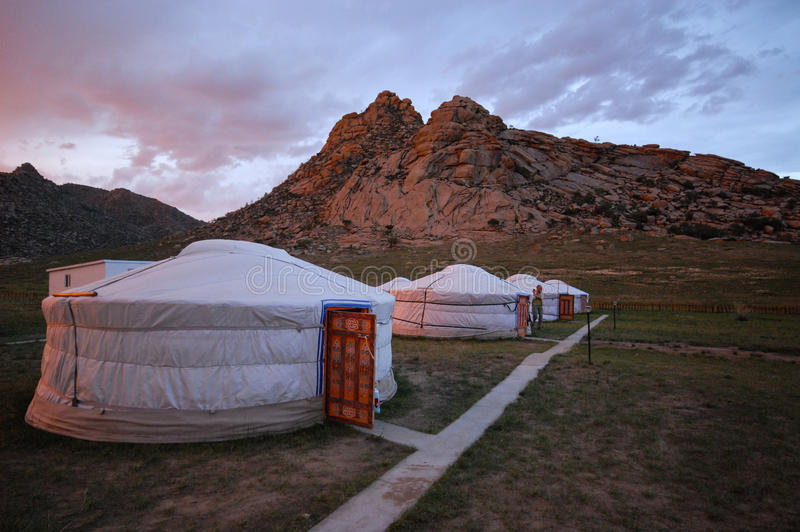 Roof of a yurt in mongolia royalty free stock images