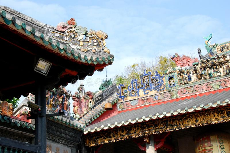 Roof of Zumiao Temple royalty free stock image