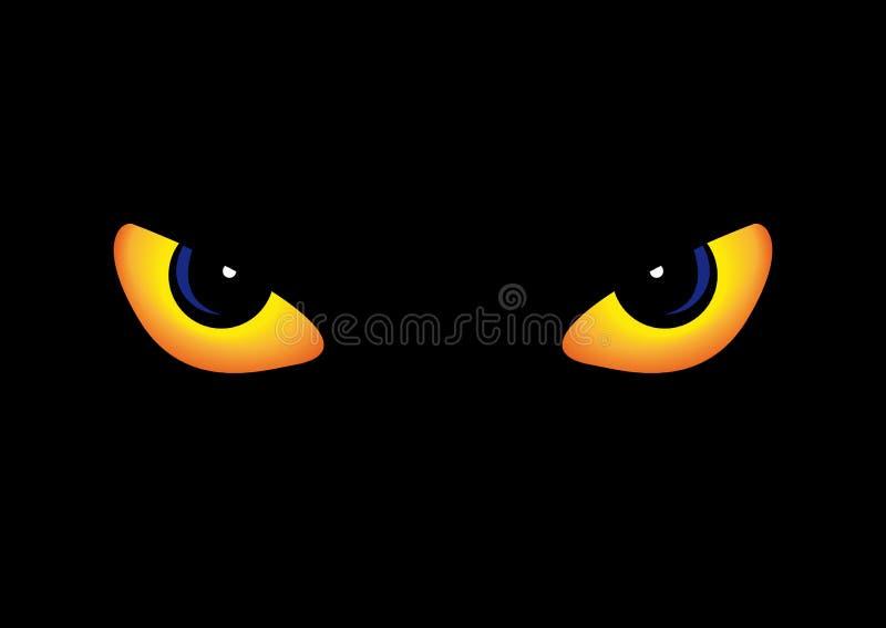 Roofdier ogen vector illustratie