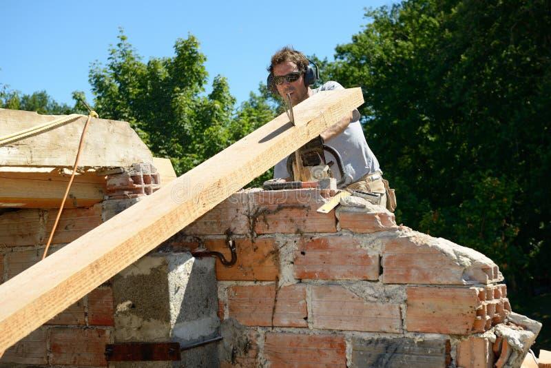 Roofer τέσσερα στοκ εικόνα