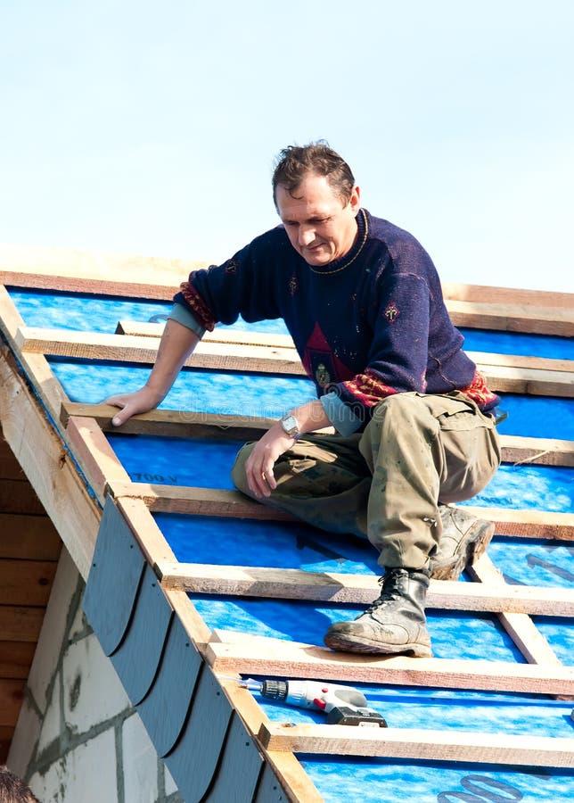 Roofer   stock foto