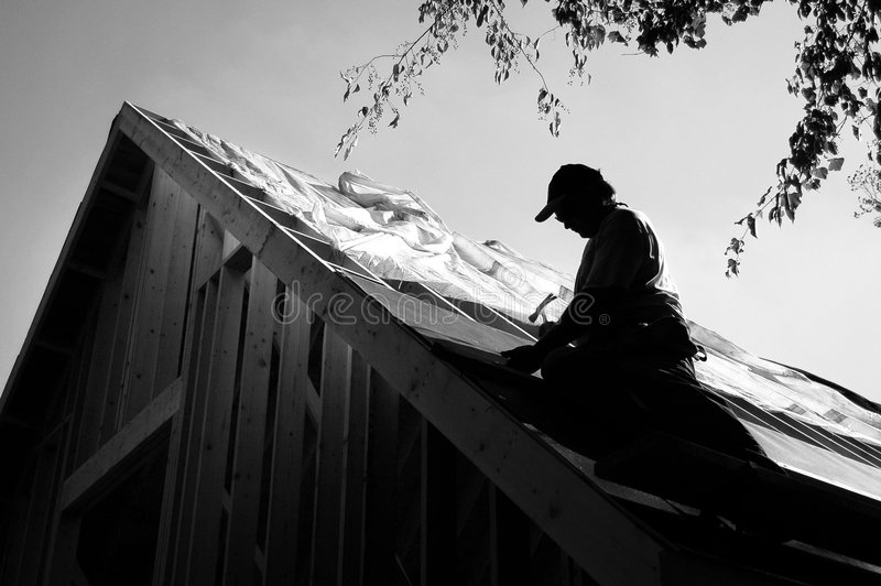 Roofer photos stock