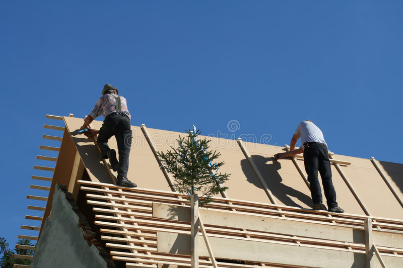 Roofer image stock