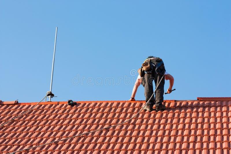 Roofer fotografie stock