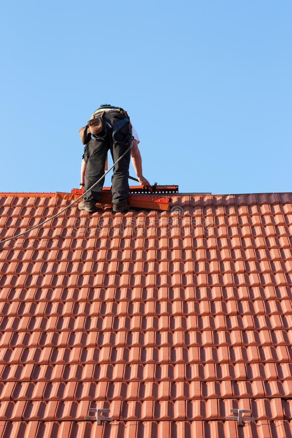 Roofer photographie stock