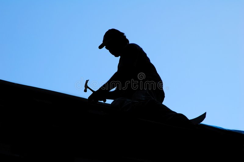Roofer stock foto's