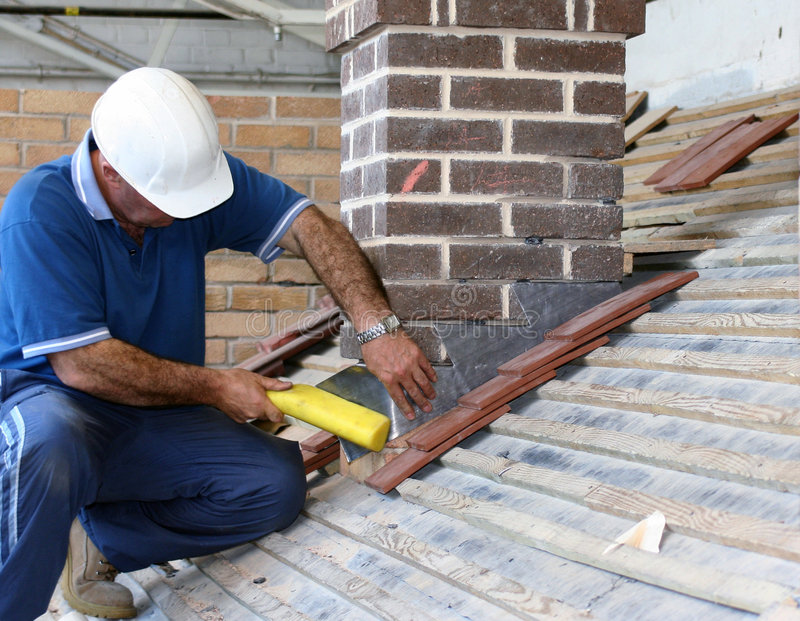 Roofer de stagiaire photos stock