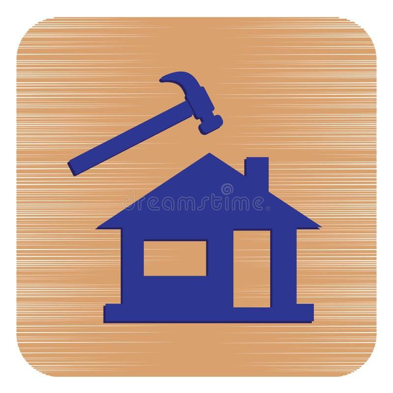 Roofer/leidekkerspictogram stock illustratie