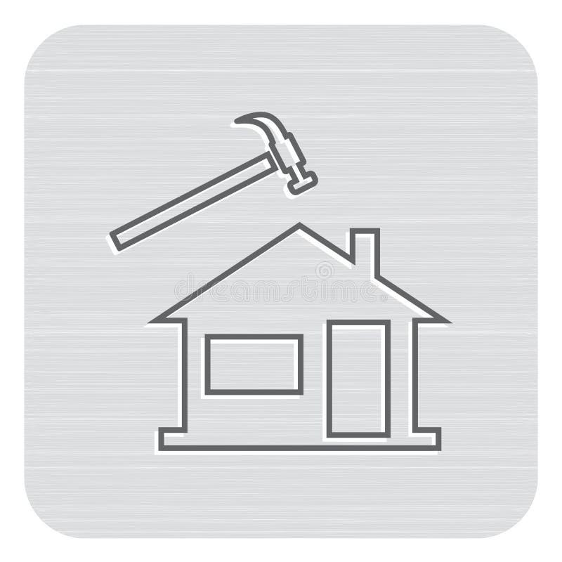 Roofer/leidekkerspictogram vector illustratie
