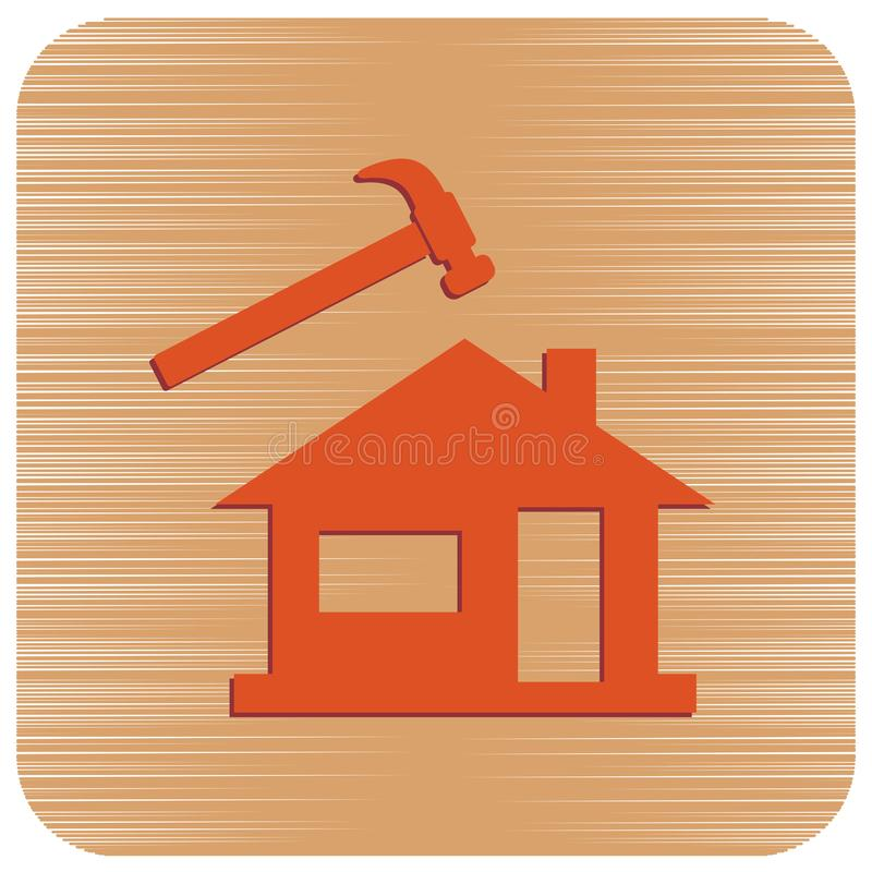 Roofer/leidekkerspictogram vector illustratie