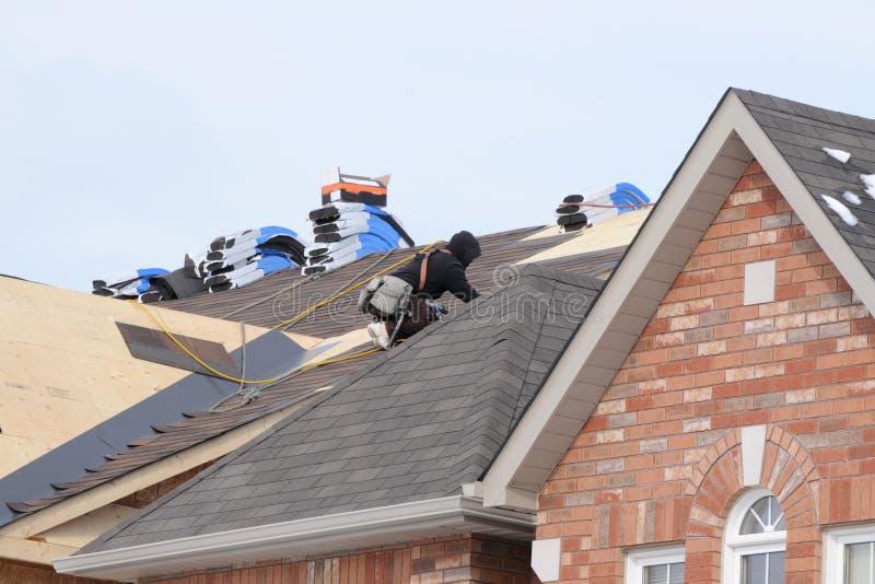 Roofer op de Baan stock foto