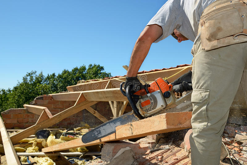 Roofer six stock photography