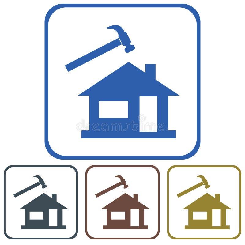 Roofer / slater icon. Vector illustration vector illustration