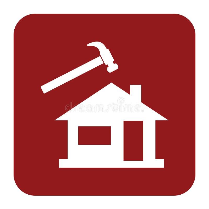 Roofer / slater icon. Vector illustration stock illustration
