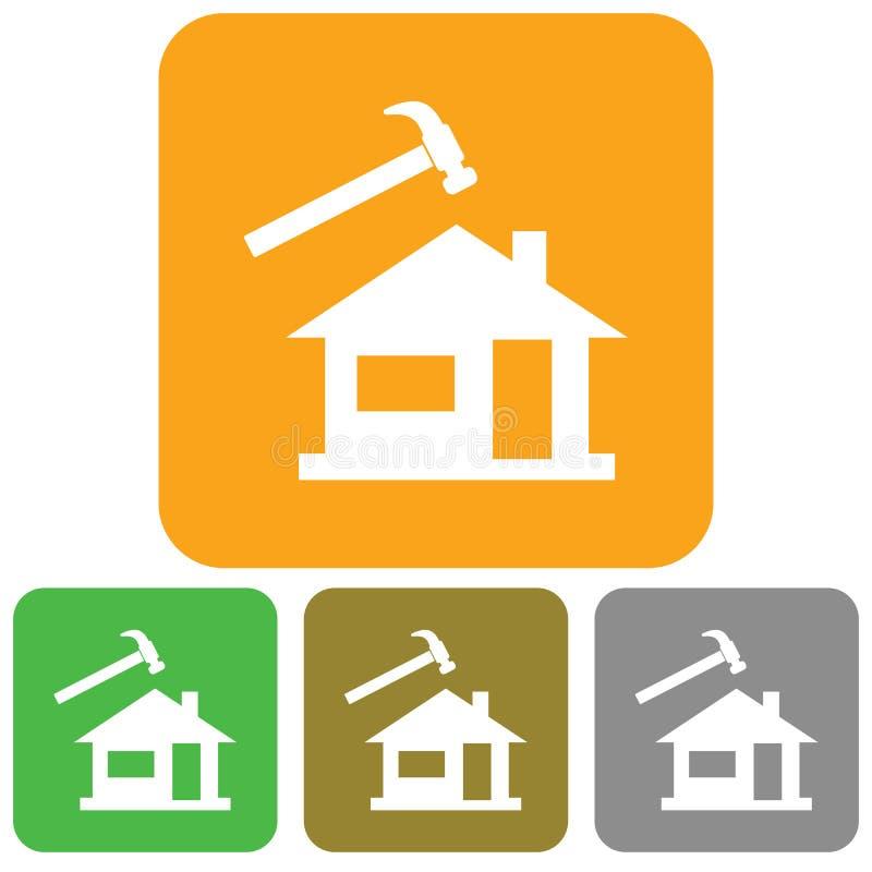 Roofer / slater icon. Vector illustration royalty free illustration
