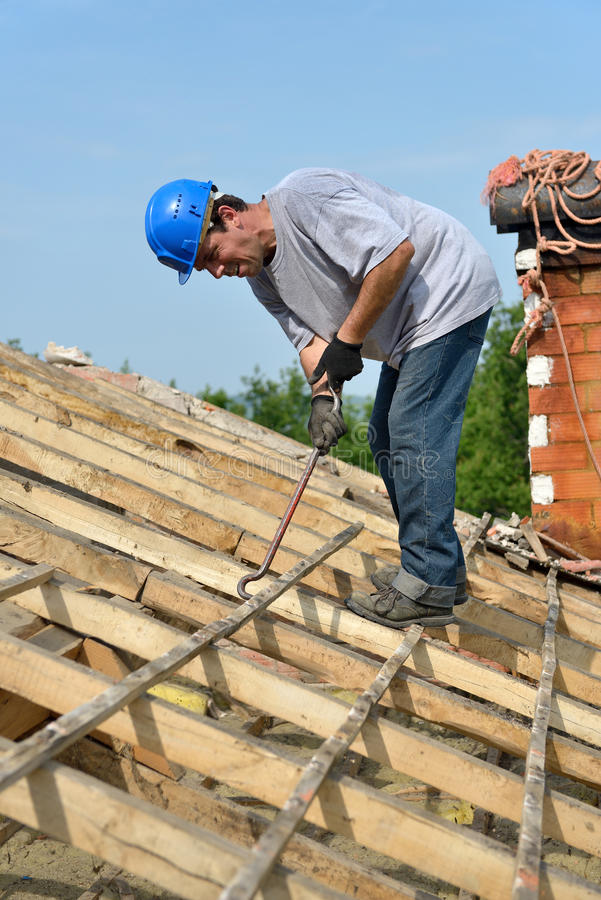 Roofer two stock photography