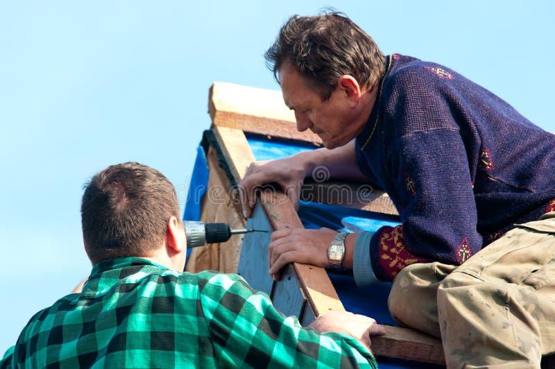 Roofers photo libre de droits