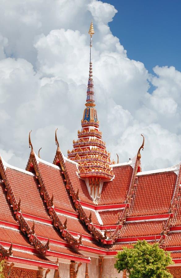 Roofing Buddhist monastery stock photography