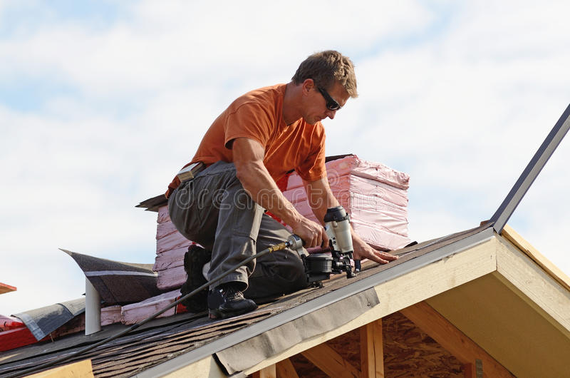 Roofing royalty free stock photography