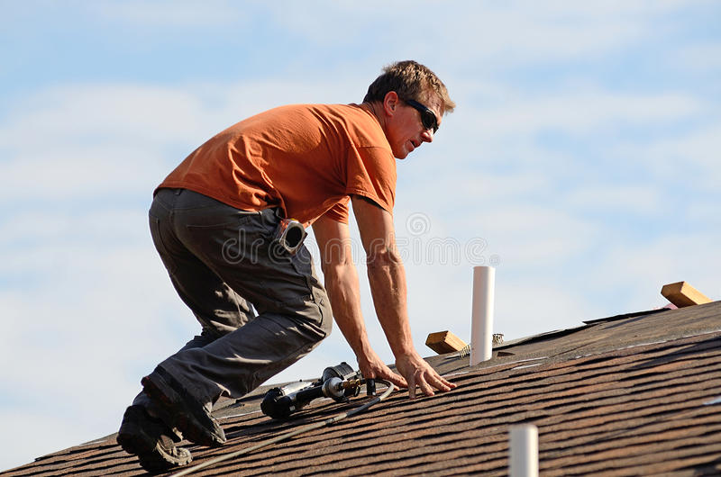 Roofing royalty free stock image