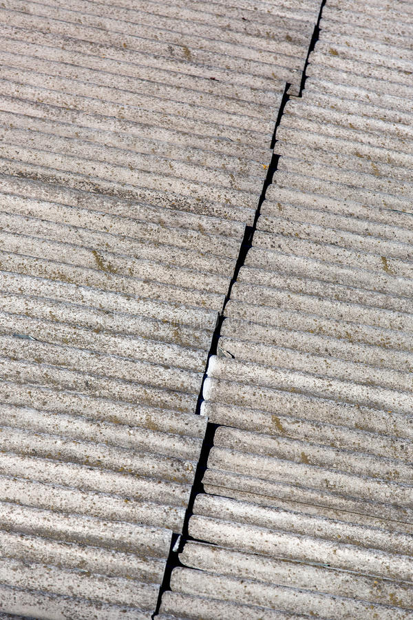 The roofing felt asbestos. stock images