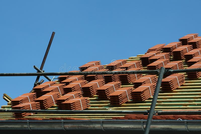 Roofing in germany stock photos