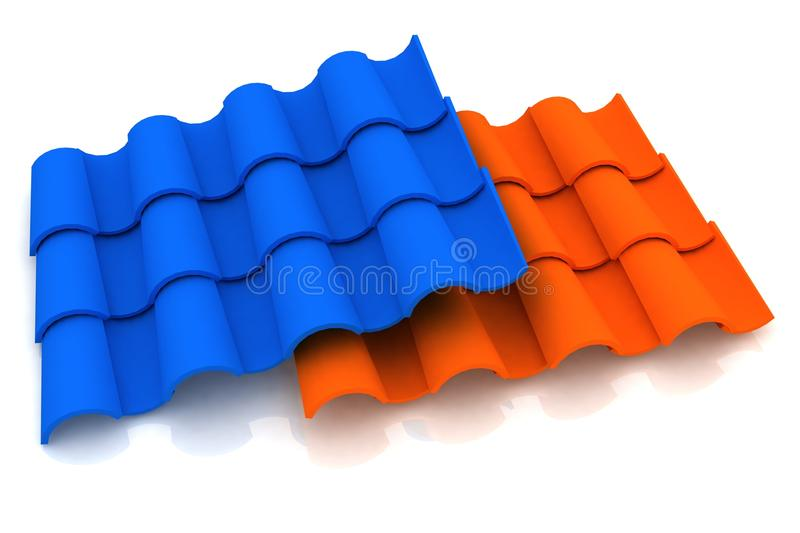 Download Roofing tiles stock illustration. Image of exterior, house - 21810126