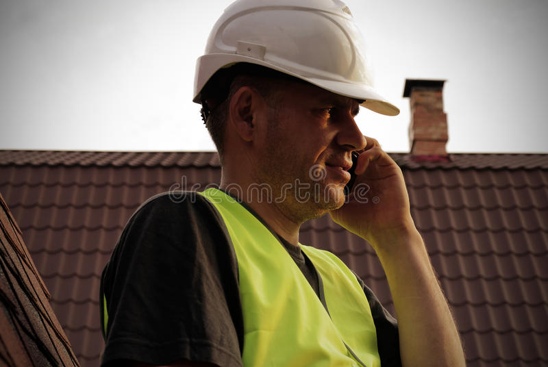 Roofing work royalty free stock image