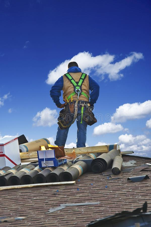 Roofing Works royalty free stock photography