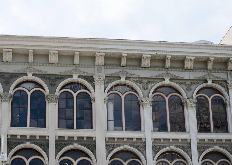 Roofline da construção imagem de stock