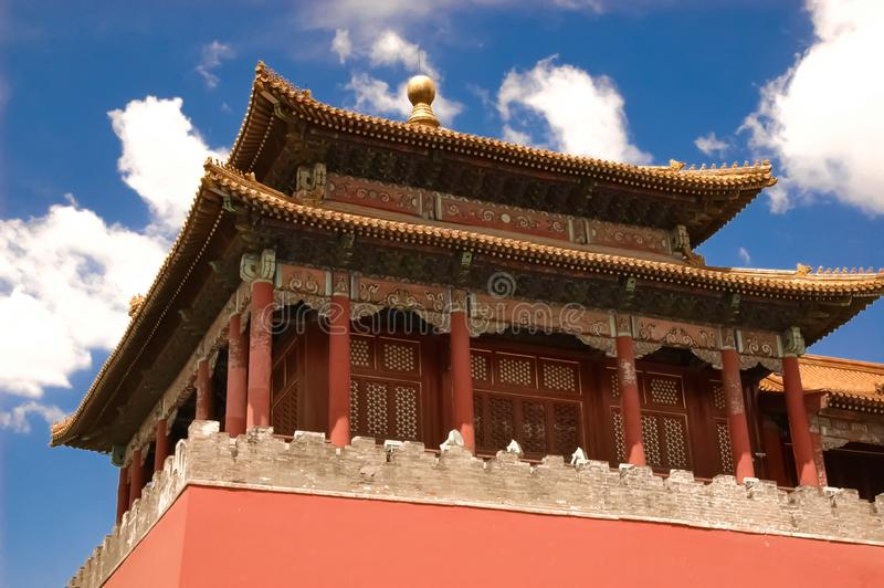 Rooflines in The Forbidden City royalty free stock image