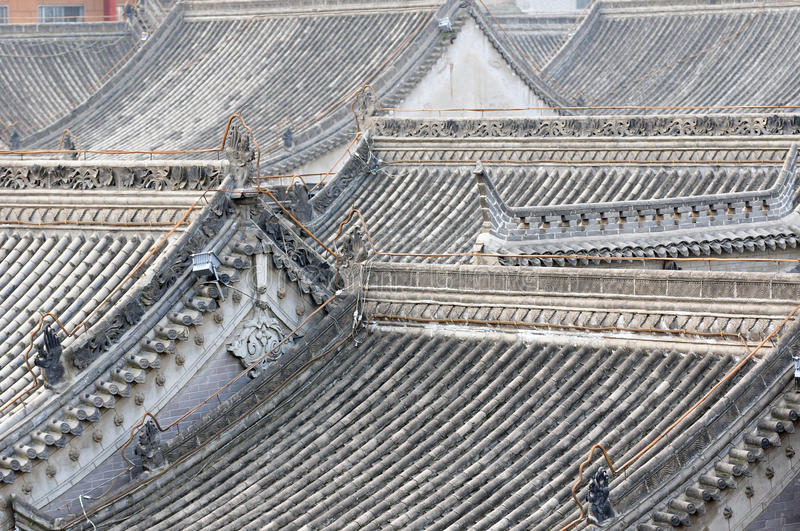 Roofs of ancient buildings royalty free stock photos