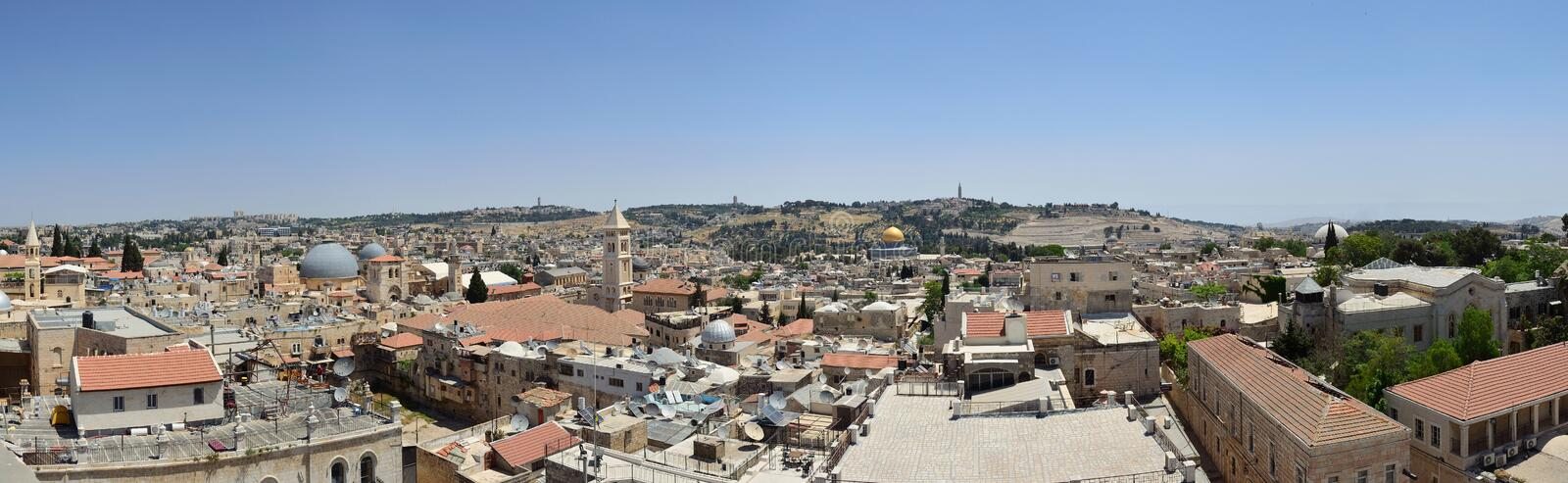 The roofs of ancient Jerusalem royalty free stock photography