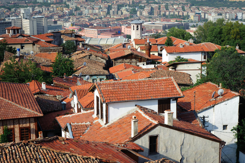 Roofs of Ankara, Turkey. Old roofs of historical part of Ankara, capital of Turkey royalty free stock photography