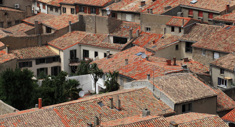 Download Roofs of Carcassonne stock photo. Image of shingle, houses - 21062802