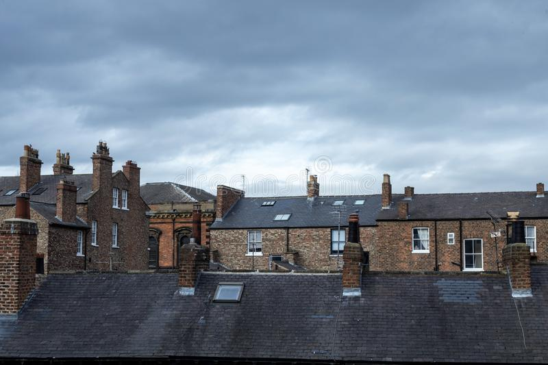 Roofs and chimneys in North Yorkshire royalty free stock image
