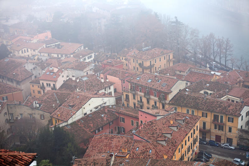 Download Roofs Covered With Fog In Verona Stock Image - Image: 17880035